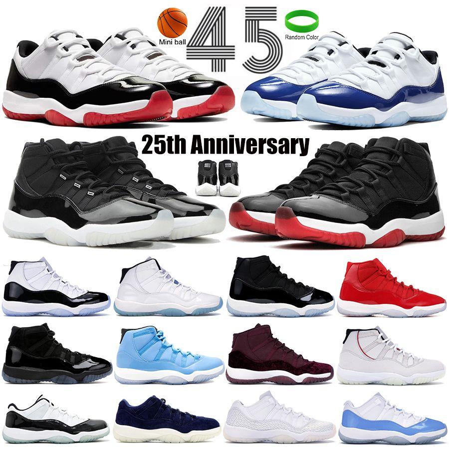 25th الذكرى السنوية كونكورد ولدت 11 11 ثانية الرجال أحذية كرة السلة الفضاء مربى قبعة و ثوب الأسطورة الأزرق رجل الرياضة رياضة المدربين