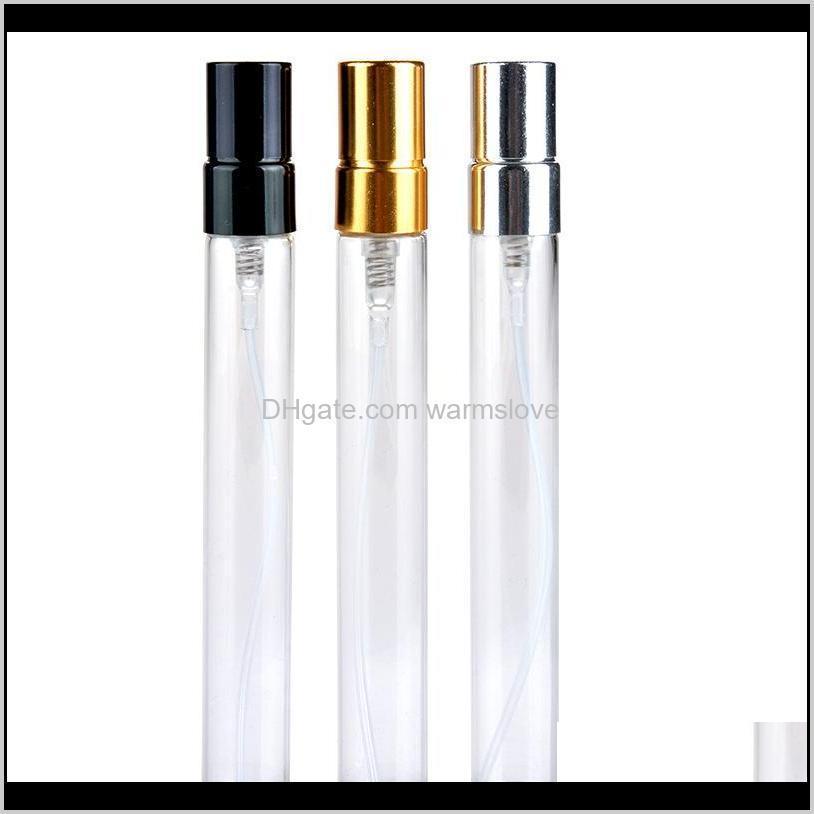 10ml verre de parfum en aluminium Pulvérisateur de parfum de parfum de parfum Voyage Portable pulvérisateur de vaporisateur vides de conteneurs cosmétiques reculables d'échantillon de flacons 13 L2 SNXYM