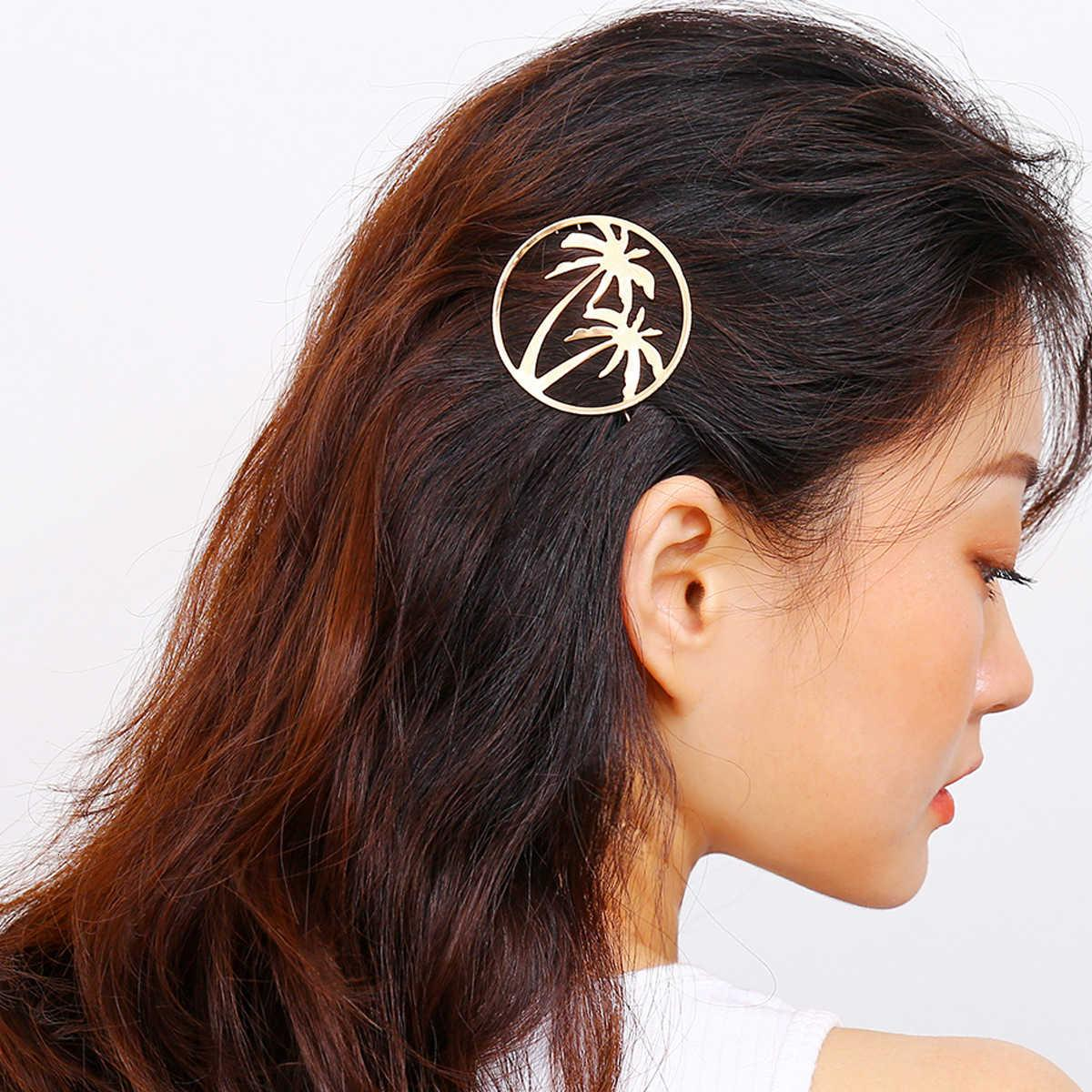 Takı Moda Basit Çok Yönlü Headdress Kişilik Yaratıcı Yeni Shanghai Tarzı Hindistan Cevizi Firkete Kenar Klip Kadın