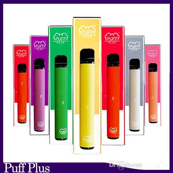 Newest Puff bar Plus Disposable Device empty Pod Starter Kit Upgraded 550mAh Battery 3.2ml Cartridge Vape 69 color VS xtra puff
