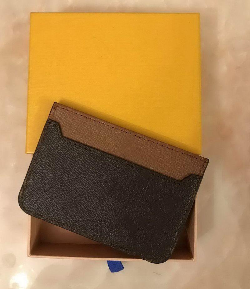 Herren Damenmode Classic Casual Kreditkarte ID Halter Leder Ultra Slim Brieftasche Packet Bag Inhaber mit Kasten