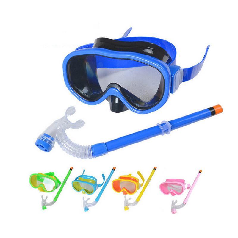 Bambini di moda Bambini da bagno con snorkels subacqueo sport ragazzi ragazze bambini immersioni in vetro respiro tubo set sec88 l0312