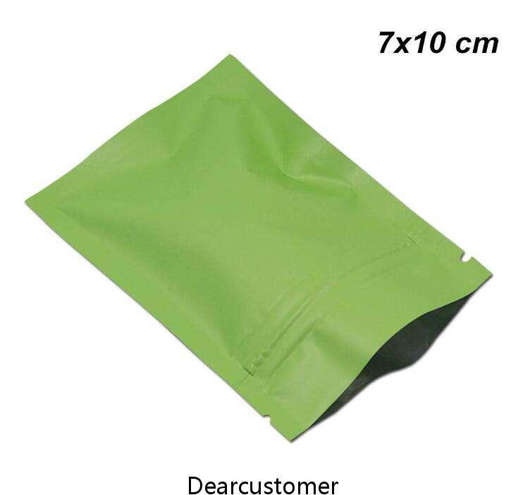 7x10cm Matte Aluminum Foil Snacks Candy Packaging Bag Food Grade Mylar Zipper Lock Packed for Zip Pouches Self edible