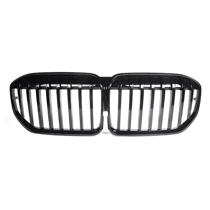 1 Piece G11 Car ABS Black Front Bumper Mesh Grille Grill For BMW 7 Series G12 Single Line Carbon Kidney Grilles