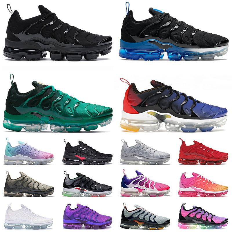 Tn Plus Mens Shoes Big Size Us 13 Tns Triple White Black Atlanta Royal Pink Cool Grey Red Navy Blue Golden Grape Purple Womens Trainers Outdoor Sports Sneakers EUR 36-47