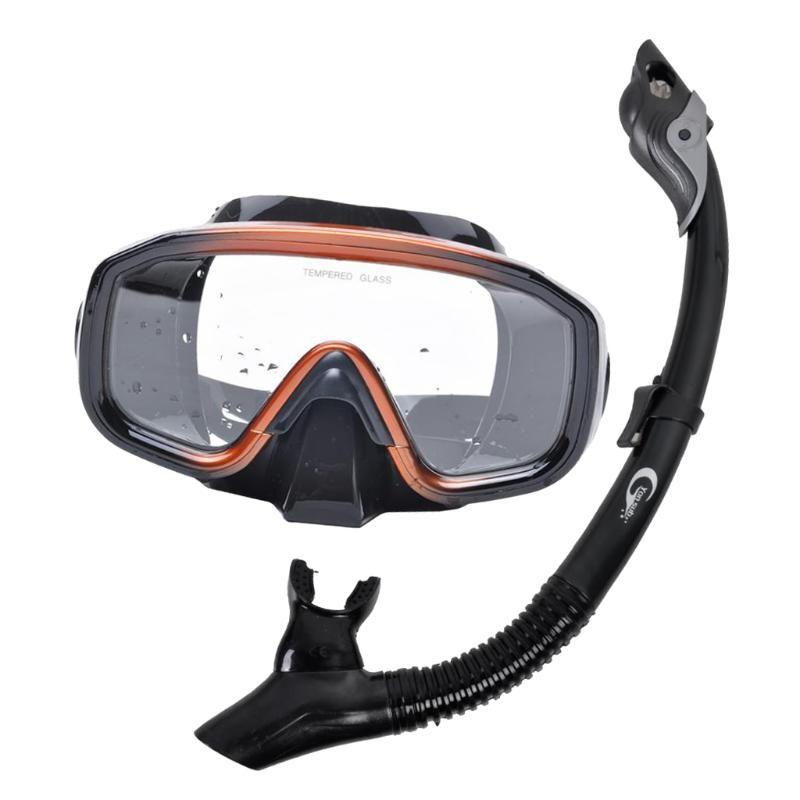 Máscaras de mergulho Perfeclânica Snorkel Snorkel Máscara Definir Profissional Dive Gear Óculos De Óculos De Armação