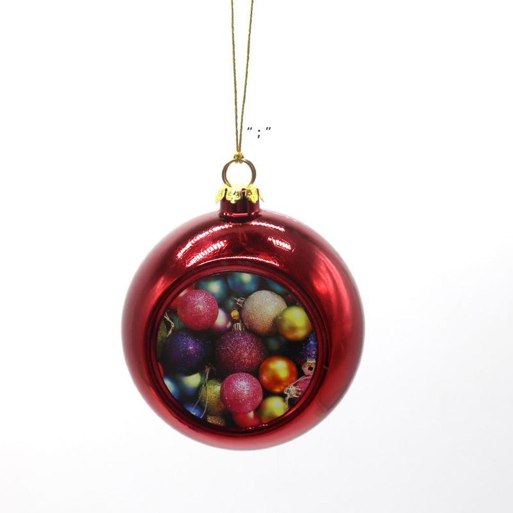 New!!! Sublimation Blanks 6cm Christmas Ball Decorations Transfer Printing Heat Press DIY Gifts Craft Xmas Tree Ornament OWE9724