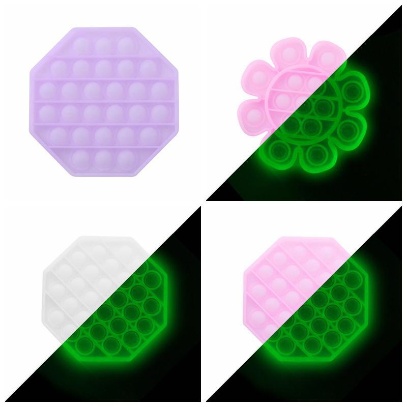 Fluorescência Glow Luminoso Empurre Bubble Fidget Brinquedos Precisa Especial Necessidades Stress Redever ajuda o estresse Aumentar Soft Squeeze Toy Lla380
