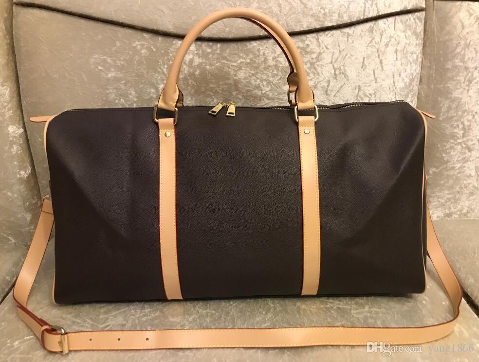 2020 neue Männer Luxus Designer Duffle Bag Frauen Reisetaschen Handgepäck Männer PU Leder Handtaschen Große Kreuz Body Bag Totes 55 cm
