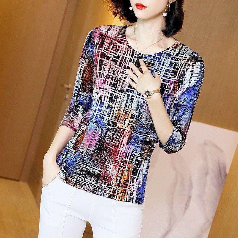 Femmes Printemps Style d'automne Chemises Chemises Lady Casual Cold Col à manches courtes Striped Blusas Tops DD8820 210311