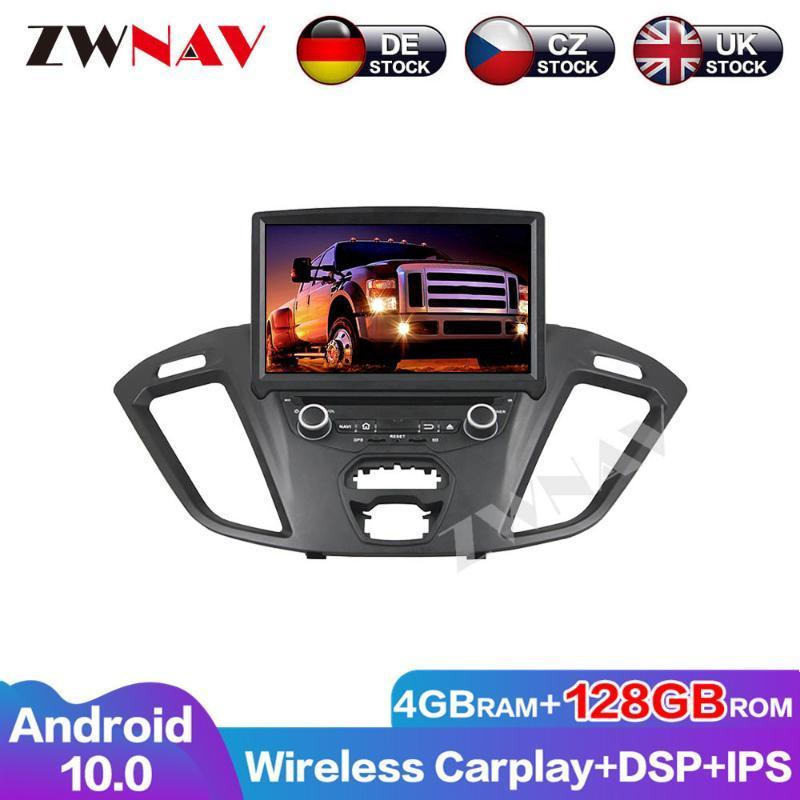 Oyuncu Android 10 4G + 128G Transit Özel 2021 Multimedya Radyo GPS Navigasyon Araba DVD Baş Ünitesi Ses Video IPS Ekran