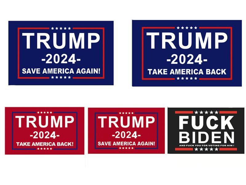 Trump Bayrak 2024 Seçim Banner Donald Amerika'yı Tutun Büyük Yine Ivanka Biden Bayraklar 150 * 90 cm 3x5ft