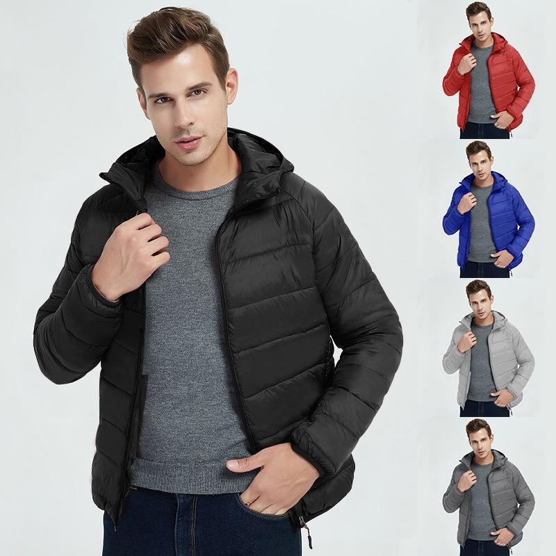 Men's Hoodies & Sweatshirts Winter European And American Cotton Clothes Leisure Sports Hooded Long Sleeve Short Warm Thickened