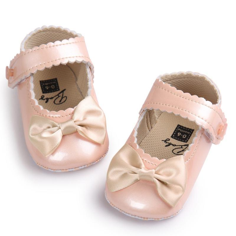 First Walkers Autumn Soft Sole Girl Baby Shoes PU Butterfly-knot 0-18 Months Moccasins Shoe For 0-18Months