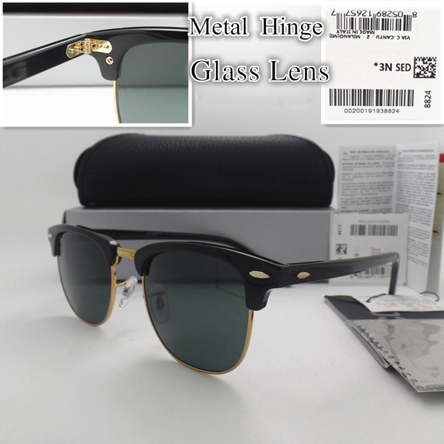 En Kaliteli Lüks Tasarımcı Güneş Gözlüğü Cam Lens Metal Menteşe Tahta Çerçeve Moda Erkek Kadın Spor Vintage Güneş Gözlükleri Paket