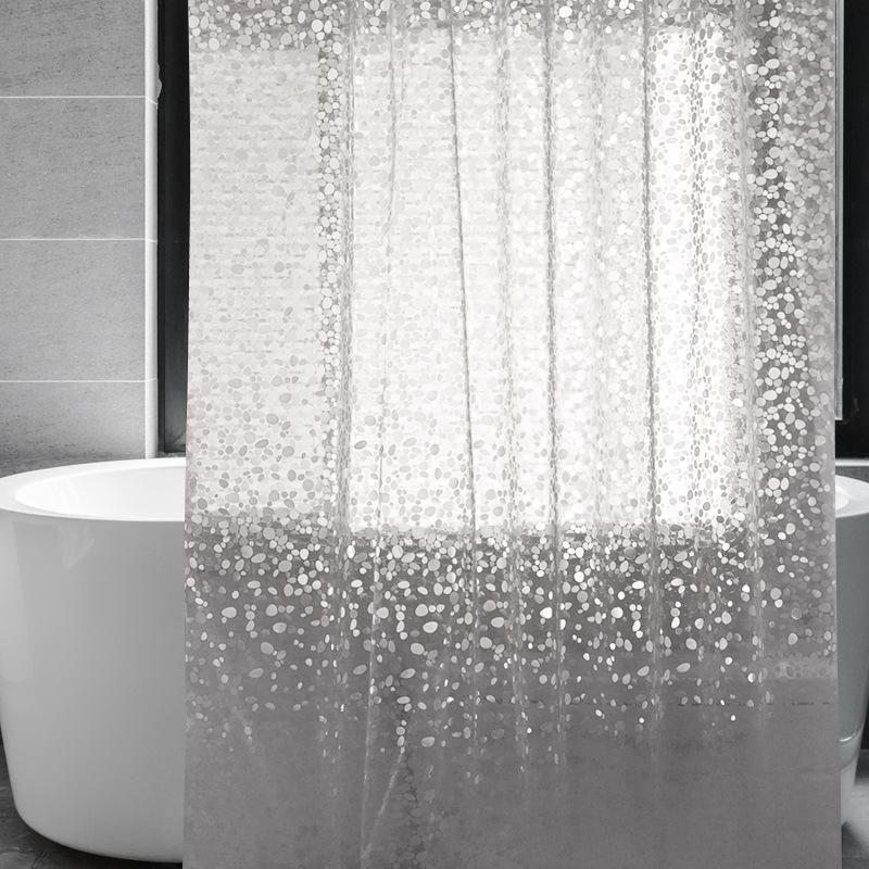 Душевые занавески прозрачные EVA занавес 3D каменный узор Водонепроницаемый для экрана ванной комнаты с туалетом магнита