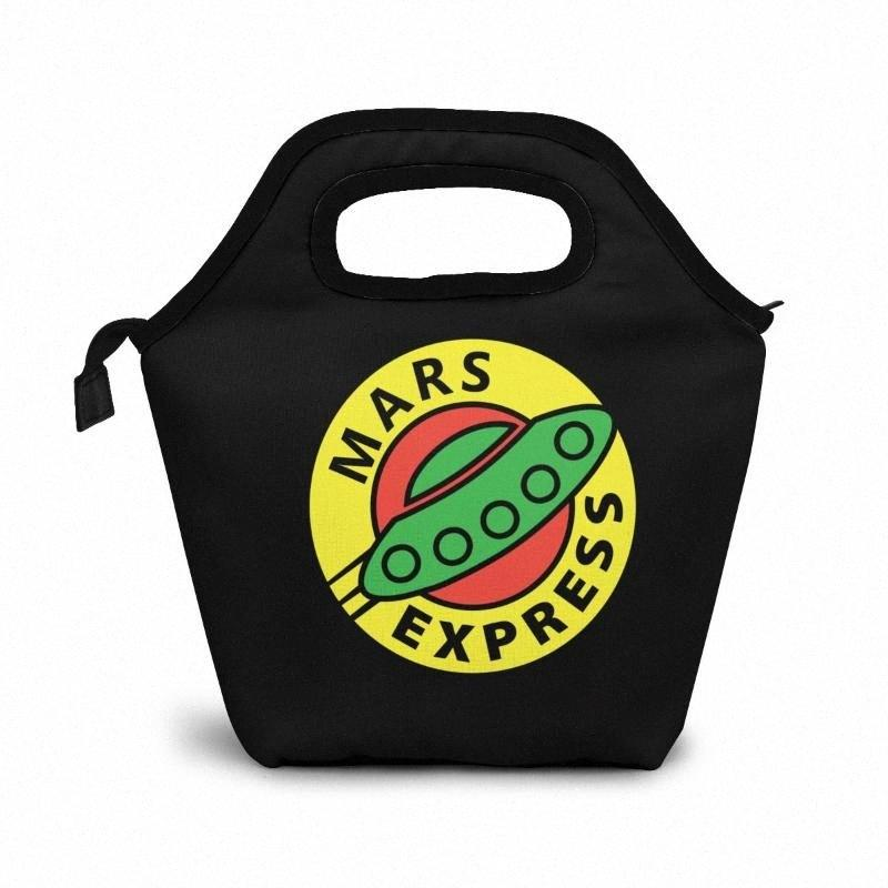 Mars Express Planet And Expres S Lunch Bag Lunch/Ice Bags Portable Insulated Picnic Box For Women Men 72IC#