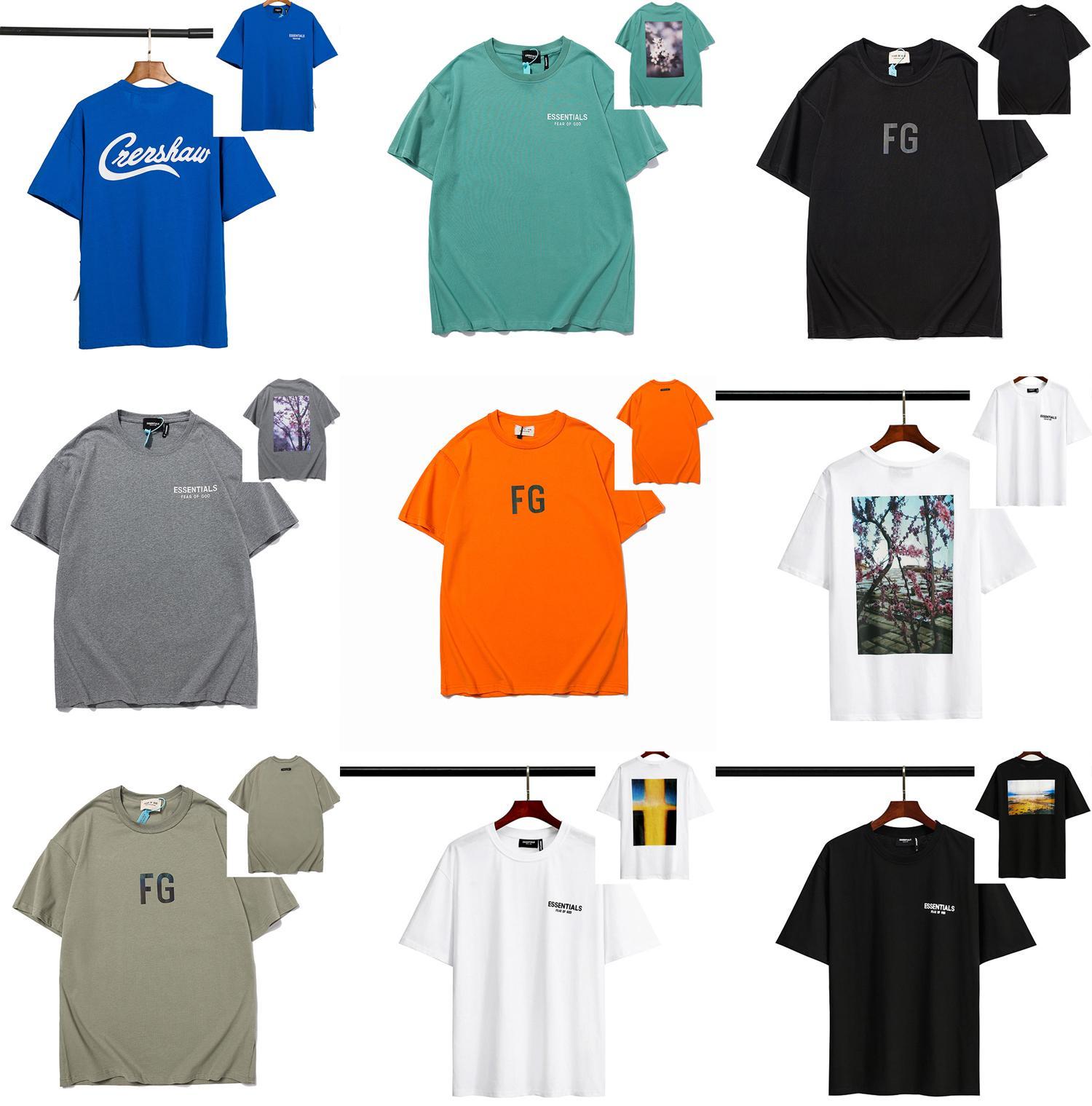 21ss Yüksek Qaulity Yaz Erkek Tasarımcılar Tees T Shirt Fg Essentials Moda Rahat Çiftler Kısa Kollu Tee Rahat Erkekler Kadın T-Shirt