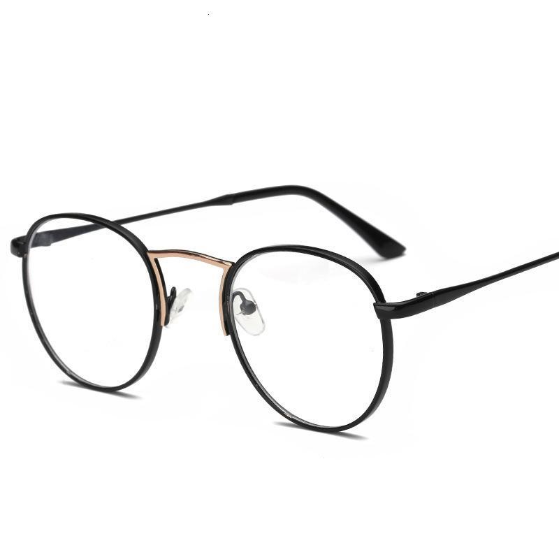 Nuevo marco de gafas metálicas, gafas planas del marco delgadoras de los hombres y las mujeres, se pueden equipar con miopía le