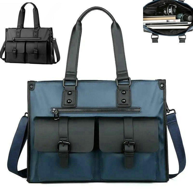 "Duffel Bags Luxury Men Handbags Fashion Waterproof Oxford Tote Shoulder Luggag Large Capacity Computer 8"" Top Thandle Travel Messenger Bag"