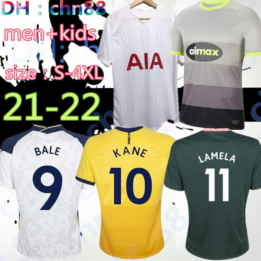 Size: S-4XL 20 21 22 Kane Son Bergwijn كرة القدم الفانيلة 2021 2022 Lucas Spurs dele توتنهام كرة القدم قميص بيل