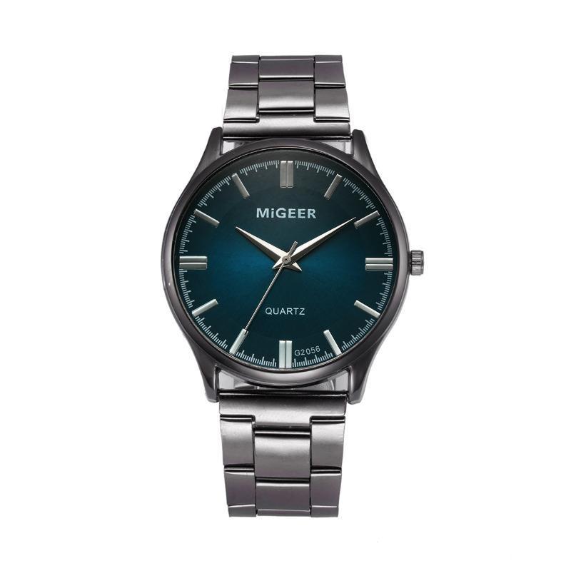 Wristwatches Men's Watches Fashion Man Crystal Stainless Steel Analog Quartz Wrist Watch Erkek Saat Relogios
