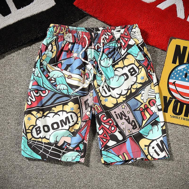 Marque de mode pantalons pour hommes 2021 Nouveau short pour hommes Summer Impression décontractée Pantalons de plage Capris de séchage rapide pour hommes