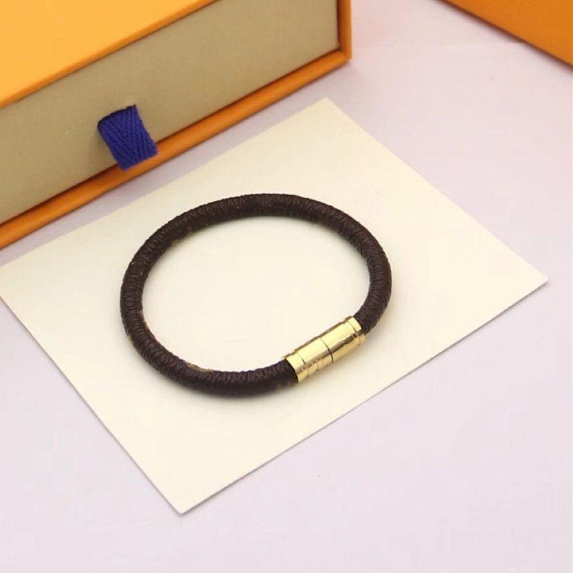 Paar Armband Titanstahl Armbänder Männer und Frauen Armband Titanstahl Plattieren Armband Checkerboard Flut Marke Leder Geschenk