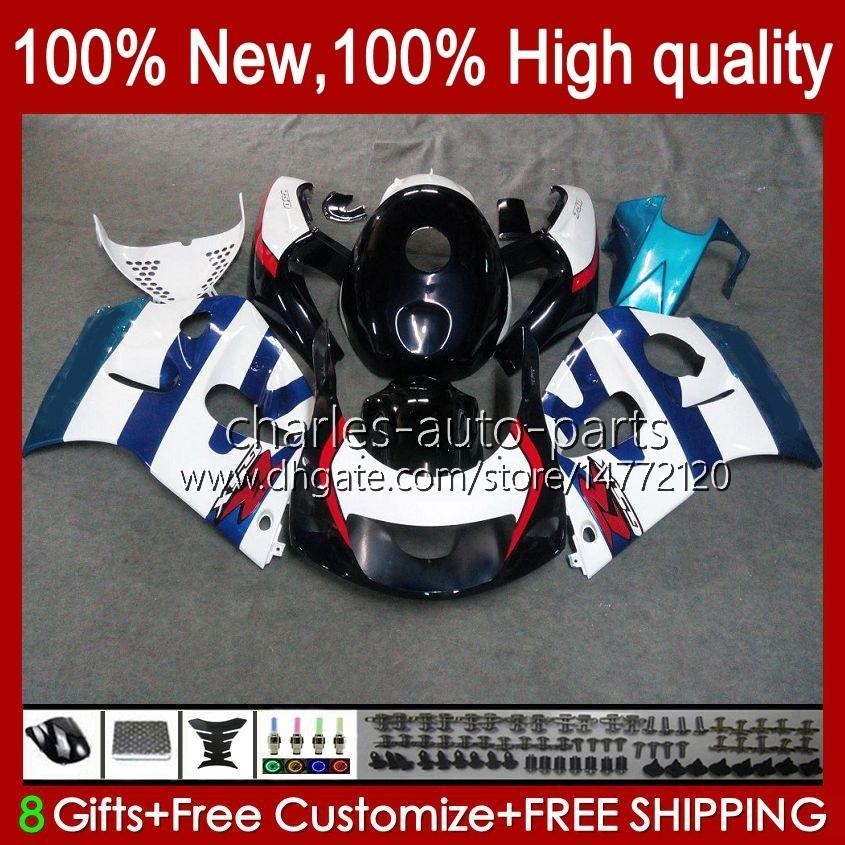 Carrosserie Kit voor Suzuki Srad GSXR 600CC 750CC 750 600 CC 96-00 Lichaam 22NO.41 GSXR-750 GSXR600 1996 1997 1998 1999 2000 GSXR750 GSX-R600 96 97 98 99 00 Kuiken Blauw Glanzend