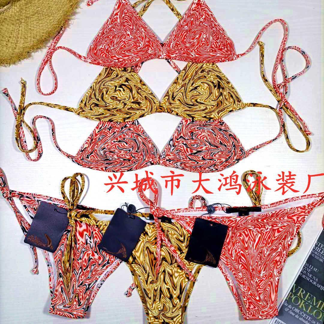 Sistema delle donne con costume da bagno multicolor bikini dahong fabbrica