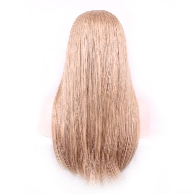 Amazon European y Americano Popular Anime Wig Largo Lamera de pelo recto Color Multi-Color Straight Hair GRIGADIENTE EN BRATSORES