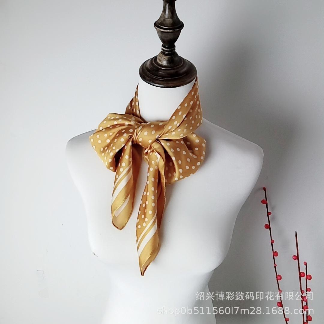 Pequeñas bufandas de la playa de seda de la impresión digital de la impresión digital de la imitación