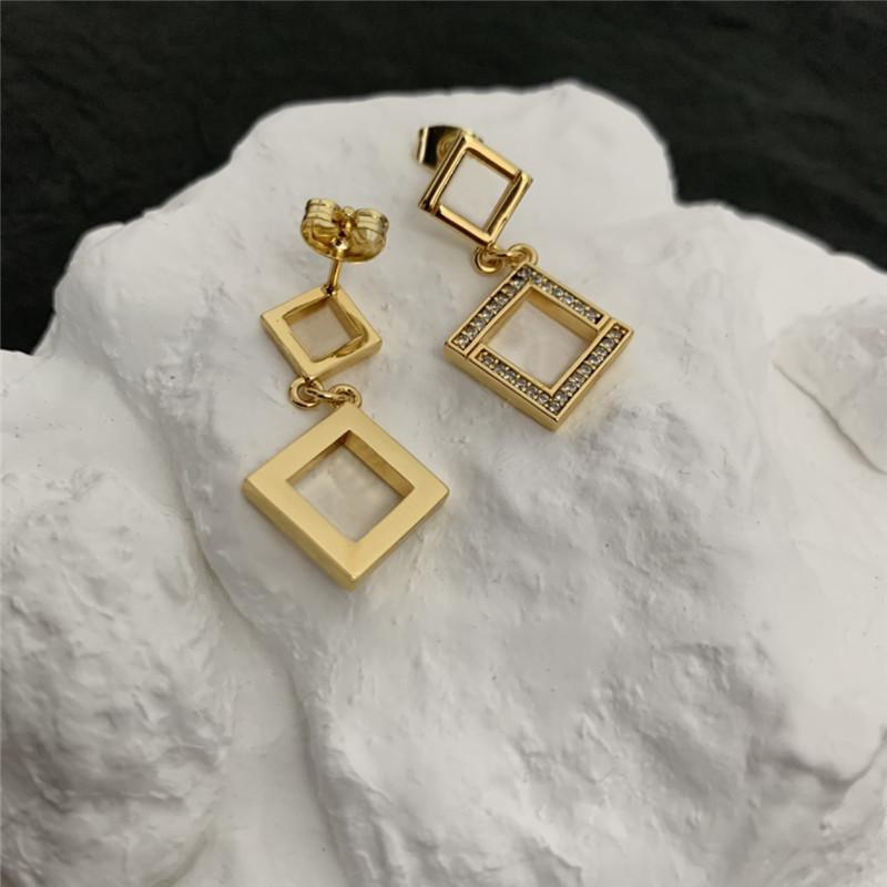 Luxury Designer Hoop Earrings For Women Fashion Diamond Letter F Designers Ear Studs Womens Party Gold Earrings Pendants High Quality
