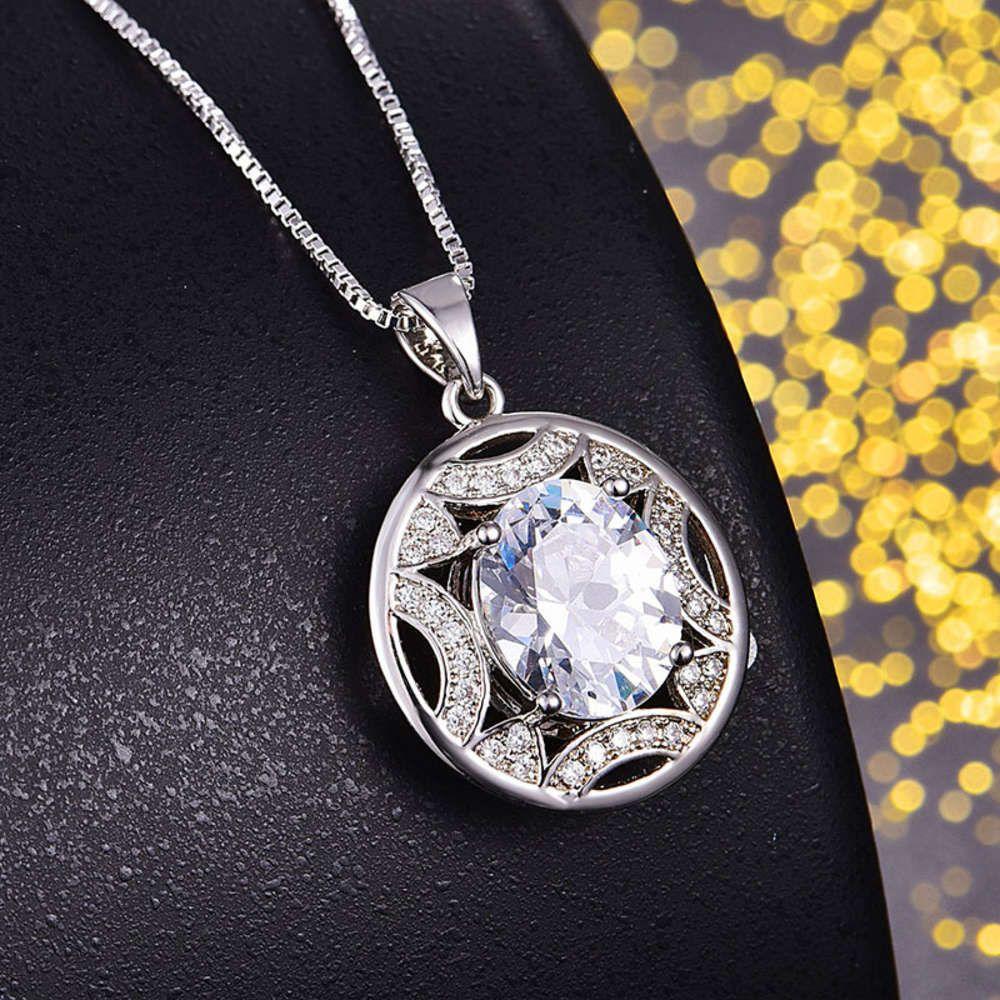 HBP Fashion Luxury Classic Redondo Colgante, Super Flash Anti Perforando, Collar de diamantes huecos, 2021 Estilo Nuevo