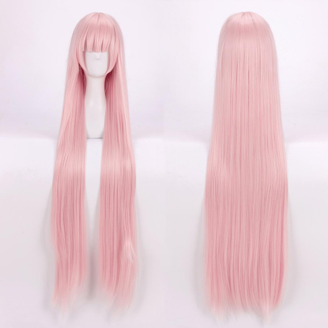 DARLING in the FRANXX 02 Zero Two Cosplay Wigs Long Pink Heat Resistant Synthetic Hair Wig + Wig Cap
