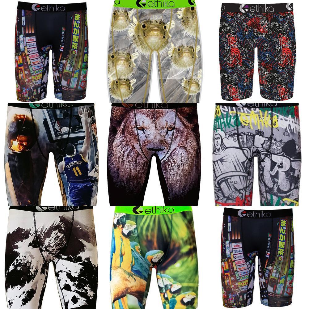 Erkek Boxer Iç Çamaşırı Marka Moda Erkekler Erkek Spor Kısa Boksörler Plaj Swim Sandıklar Pantolon Graffiti Boxer Kısa Külot H22501