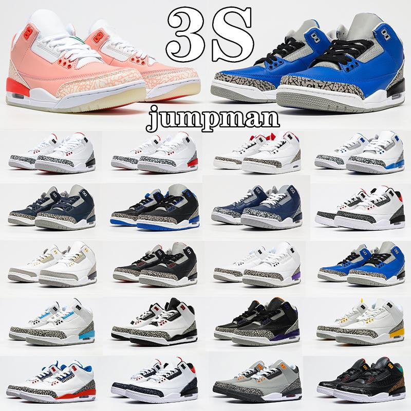 Air Jordan 3 3s Retro shoes Racer Blue 3s jumpman men basketball shoes 3 Midnight Navy Cement Black Cat Cool Grey UNC Pure White Laser Orange mens trainers outdoor sports sneakers