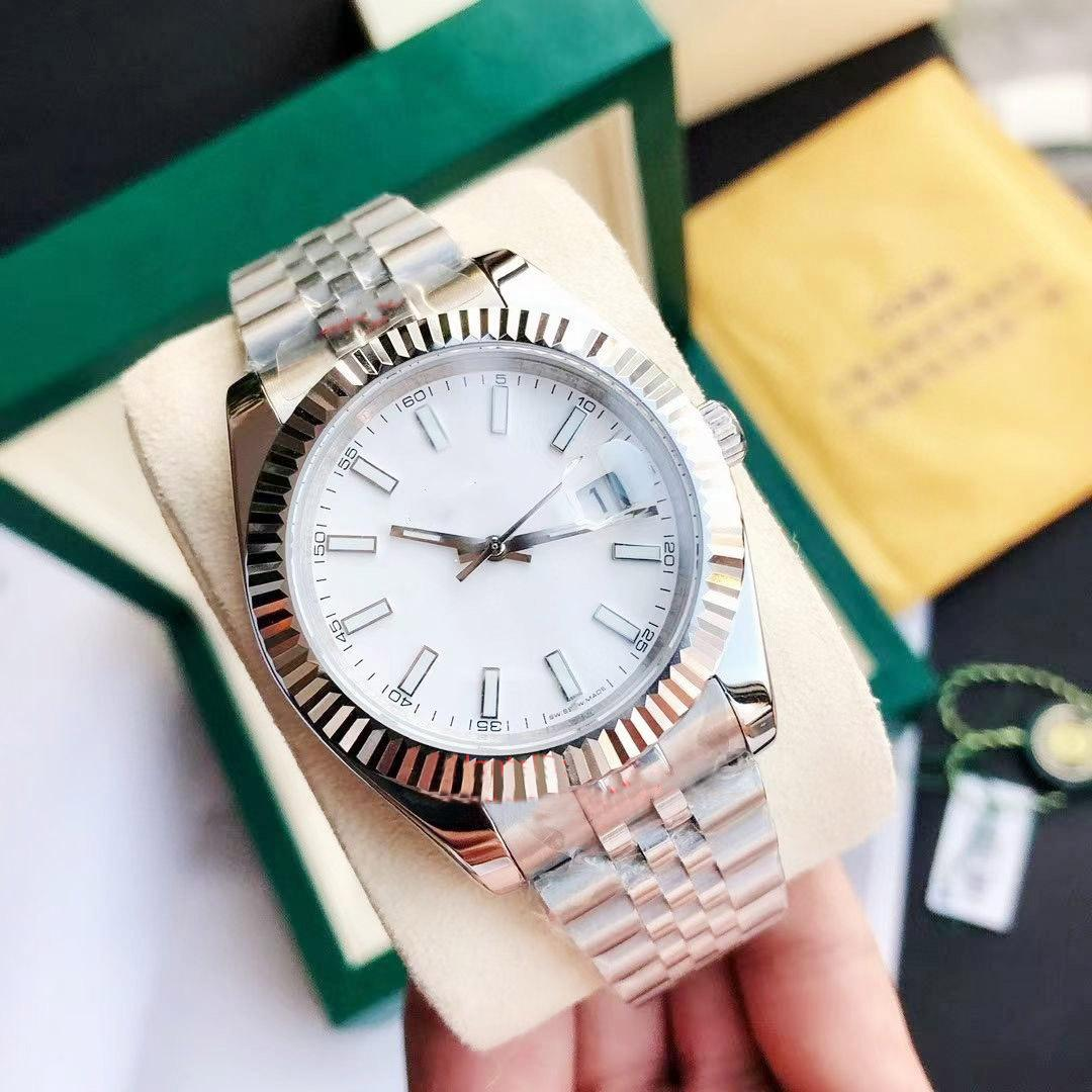 rolex 36mm 41mm 18Colors Master Watch Datejust Homme Mechanical Montres automatiques Steel Steel Steel Steel Business Fashion Montres
