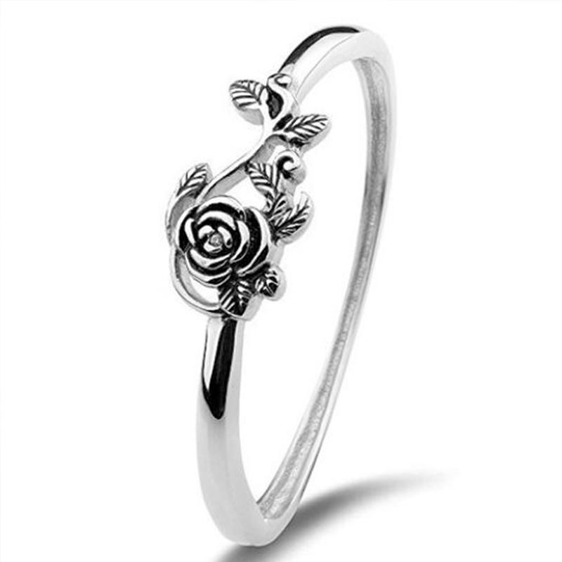 Hochzeitsringe Huitan Vintage Blacke Rose geformte Frauen Retro Ganze Blume Fabrik Direktverkauf Großhandel Lotsbulk