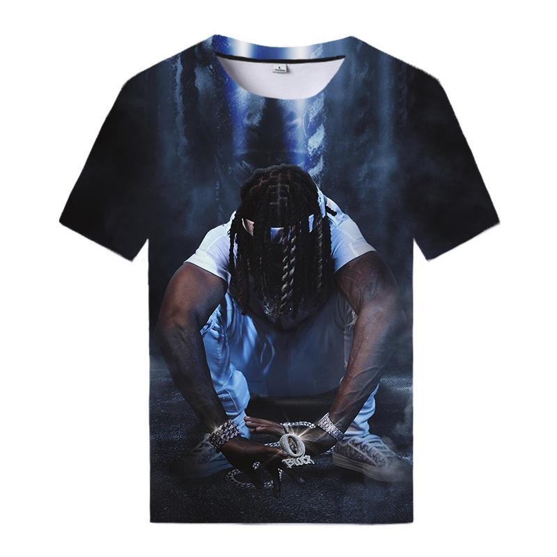 2020 rapper King von von 3D Imprimir Maluma Tops Casual Streetwear Tees Homens Mulheres SenPai T-shirt Fresco Todos os Match Camisetas