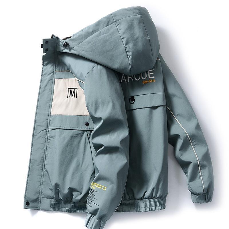 Männer Jacken 2021 Herbst Männer mit Kapuze und Mäntel Streetwear Casual Mantel Outwear Slim Fit Male Kleidung