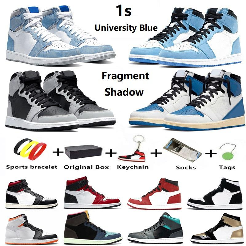 Air Jordan 1 University Blue Hype Royal Jumpman 1 Herren Basketballschuhe 1s Chicago Twist unc shadow Pollen Court lila Herren Damen Trainer Sportschuhe mit Box