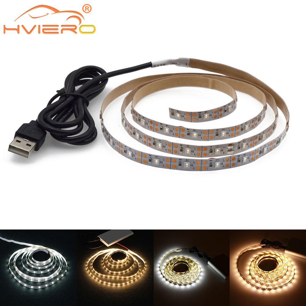 USB LED قطاع مصباح 2835 SMD DC5V مرنة ضوء الشريط الشريط 2 متر 5 متر hdtv التلفزيون شاشة سطح المكتب RGB الزخرفية