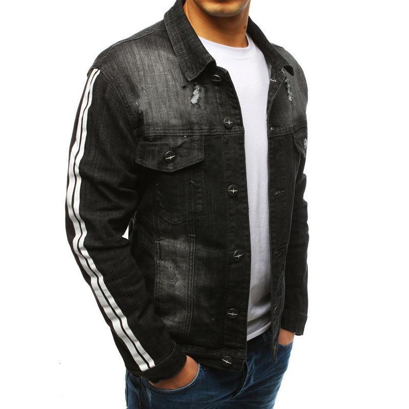 Erkek Son Klasik Retro Uzun Kollu Çizgili Basit Gömlek Streetwear Gevşek Serin Denim Ceket 7OCZ