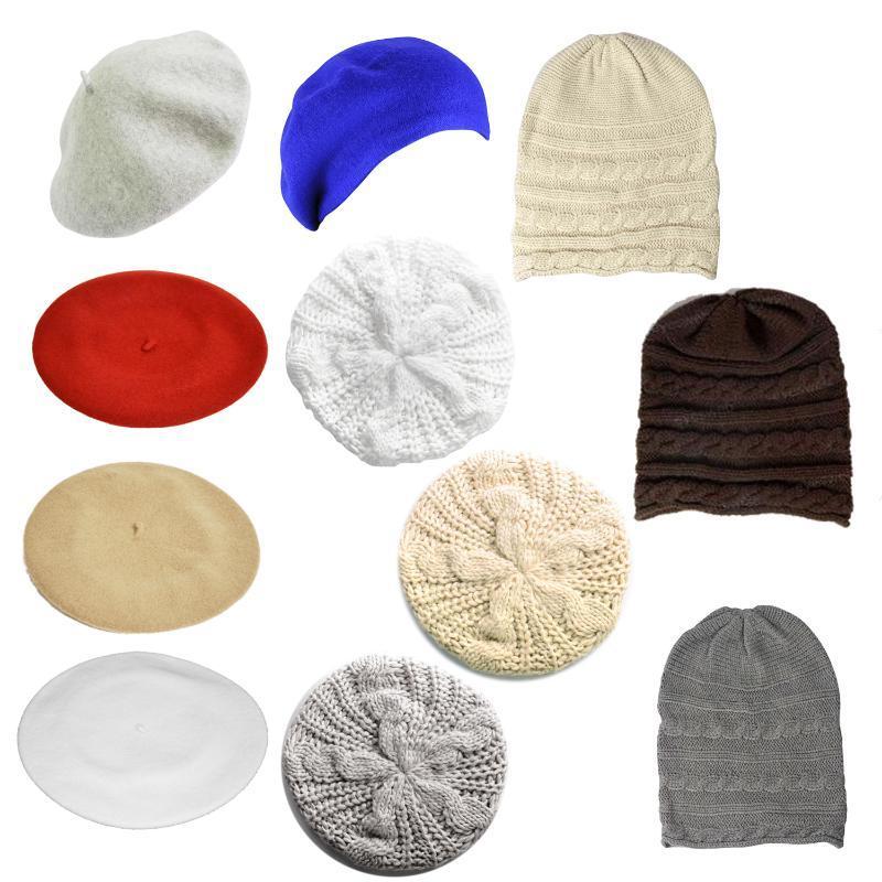 Унисекс мужчин женщин зима лишанный мешковатый шапочка вязание крючком лыжная шапка шляпа
