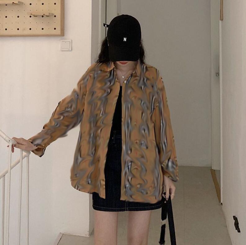 최신 여성용 격자 무늬 셔츠 패션 클래식 학생들을위한 느슨한 셔츠와 함께 야외 레저 썬 스크린 긴 소매 코트 무료 shippin