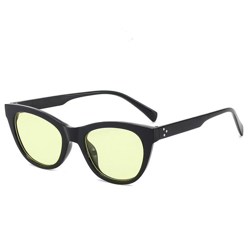 Sonnenbrille Mode Kleine Katze Eye Frauen Ozeanobjektiv Für Männer Und Oloey Reisnägel Alles Spiel Fahren UV400 Lentes