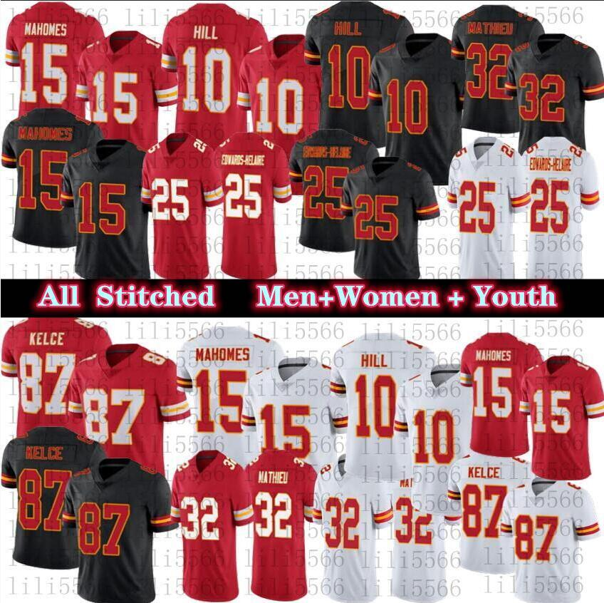 الرجال 15 باتريك ماهوميس النساء الاطفال كرة القدم الفانيلة 87 ترافيس كيلسي 10 تايك هيل 25 إدواردز هيلير 32 Tyrann Mathieu جودة عالية مخيط جيرسي