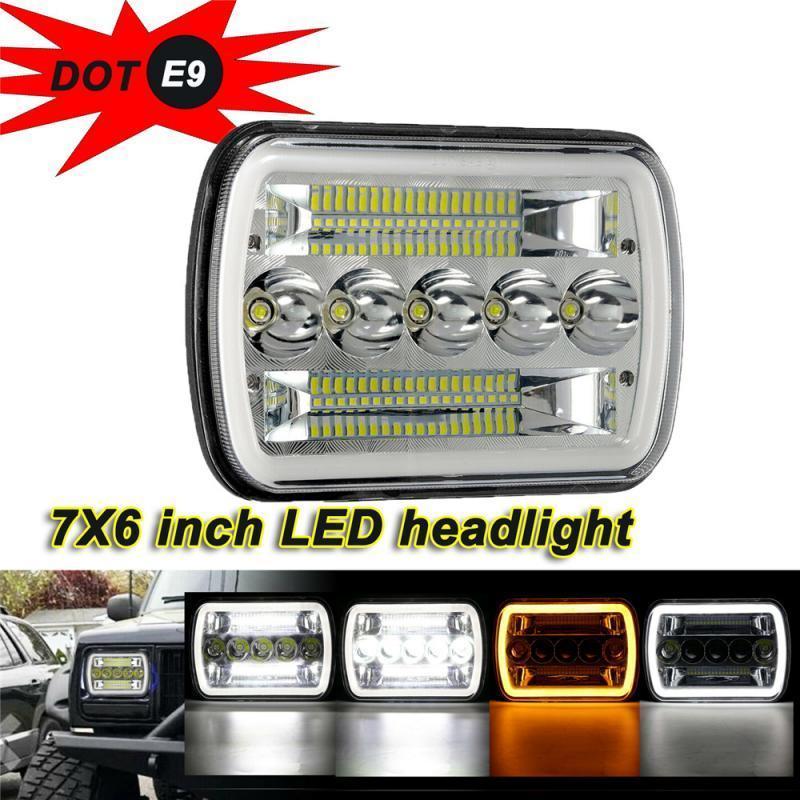 """1 ADET 45 W 7X6 """"5x7 LED Araba Far Araba Kamyon Farlar Için Wrok Işık LED Bar"""