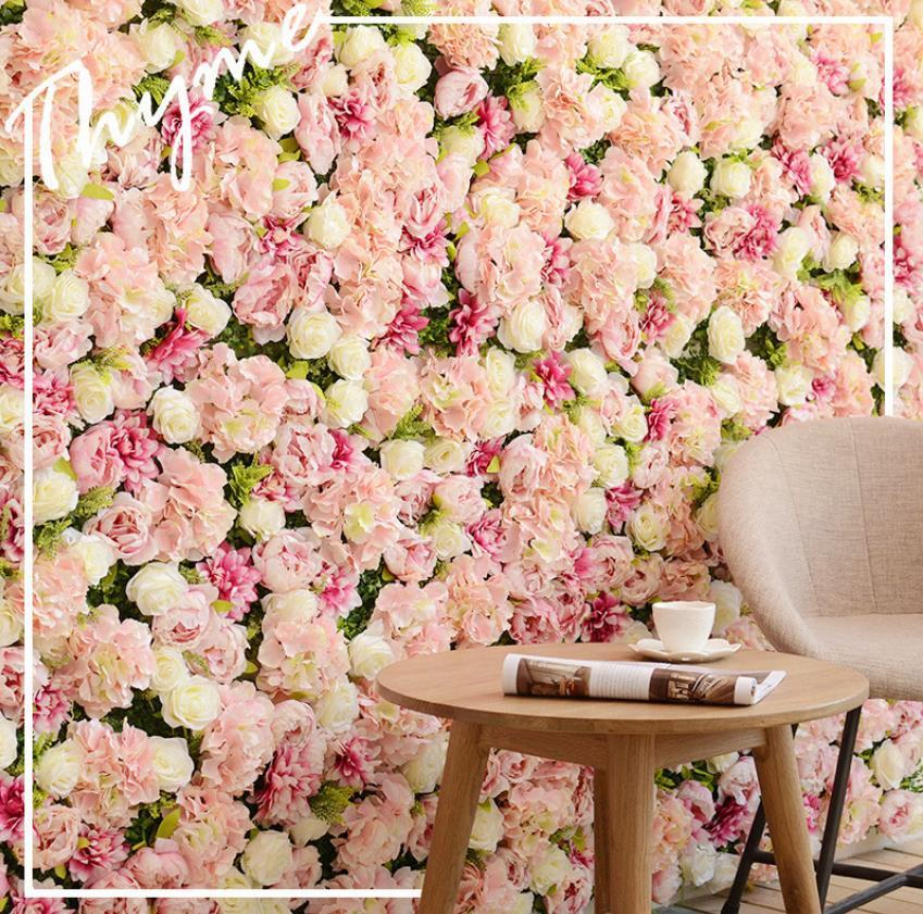 Decorative Flowers Wreaths Home Garden Festive & Supplies Spr Higher Quality 3D Rose Peony Wall With Jewellery Wedding Backdrop Party Artifi